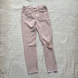 HUDSON girls size 12 distressed skinny jeans